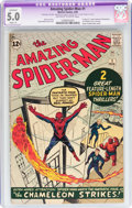 Silver Age (1956-1969):Superhero, The Amazing Spider-Man #1 (Marvel, 1963) CGC Apparent VG/FN 5.0Slight (A) Off-white to white pages....