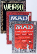 Magazines:Mad, Mad/Weirdo Group (EC, 1956-82) Condition: Average VG-.... (Total: 5Comic Books)