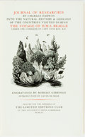 Books:Fine Press & Book Arts, [Limited Editions Club]. Robert Gibbings, illustrator. SIGNED.Charles Darwin. The Voyage of H.M.S. Beagle. Limited ...