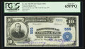 National Bank Notes:Wisconsin, Fond Du Lac, WI - $10 1902 Plain Back Fr. 632 First-Fond Du Lac NB Ch. # 555. ...