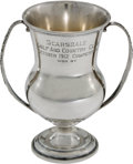 Golf Collectibles:Miscellaneous, 1912 Scarsdale Golf & Country Club Sterling Trophy....