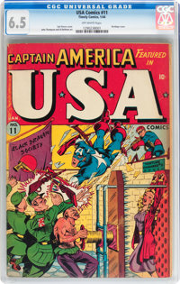 USA Comics #11 (Timely, 1944) CGC FN+ 6.5 Off-white pages