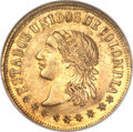 Colombia, Colombia: Republic gold 2 Pesos 1863-Medellin MS63 NGC,...