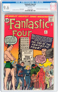 Silver Age (1956-1969):Superhero, Fantastic Four #9 (Marvel, 1962) CGC NM+ 9.6 White pages....