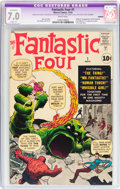 Silver Age (1956-1969):Superhero, Fantastic Four #1 Trimmed (Marvel, 1961) CGC Apparent FN/VF 7.0Slight (P) White pages....
