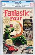 Silver Age (1956-1969):Superhero, Fantastic Four #1 (Marvel, 1961) CGC FN/VF 7.0 White pages....