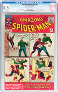 Silver Age (1956-1969):Superhero, The Amazing Spider-Man #4 (Marvel, 1963) CGC VF+ 8.5 Off-white towhite pages....