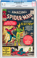 Silver Age (1956-1969):Superhero, The Amazing Spider-Man #9 (Marvel, 1964) CGC NM- 9.2 Off-white to white pages....