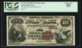 National Bank Notes:Pennsylvania, McKeesport, PA - $10 1882 Brown Back Fr. 487 The First NB Ch. #(E)2222. ...