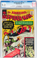 Silver Age (1956-1969):Superhero, The Amazing Spider-Man #14 (Marvel, 1964) CGC NM- 9.2 Off-white to white pages....