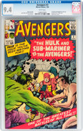 Silver Age (1956-1969):Superhero, The Avengers #3 (Marvel, 1964) CGC NM 9.4 White pages....