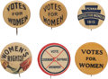 Political:Pinback Buttons (1896-present), Woman's Suffrage: Six Buttons....