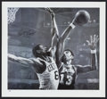 Basketball Collectibles:Others, Bill Russell Signed Oversized Stephen Holland Print. ...