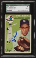 Autographs:Sports Cards, Signed 1954 Topps Yogi Berra #50 SGC Authentic. ...
