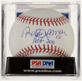 Autographs:Baseballs, Roberto Alomar Single Signed Baseball, PSA NMT 9.5....