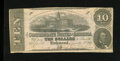 Confederate Notes:1862 Issues, T52 $10 1862. This Very Fine example is snappy with light edgehandling. Pencilled collector notations are found on the ...