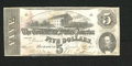 Confederate Notes:1862 Issues, T53 $5 1862. This Fine $5 has been cut cancelled....