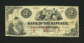 Obsoletes By State:Rhode Island, Providence, RI - Bank of the Republic $2 Nov. 3, 1855. A bank that carried a grandiose name, but only lasted three years in ...