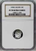 Proof Roosevelt Dimes: , 1998-S 10C Clad PR70 Deep Cameo NGC. NGC Census: (40/0). PCGSPopulation (26/0). Numismedia Wsl. Price: $30. (#95286)...