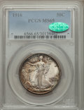Walking Liberty Half Dollars, 1916 50C MS65 PCGS. CAC....