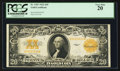 Large Size:Gold Certificates, Fr. 1187 $20 1922 Gold Certificate PCGS Very Fine 20.. ...
