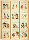 Books:Prints & Leaves, Thomas Rowlandson and George Woodward. Original Hand-ColoredEngraving, Borders for Rooms. London: R. Ackerman, 1799...