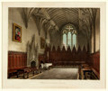 Books:Prints & Leaves, Augustus Pugin (Anglo-French artist, 1762-1832). Original ColorEngraving of His Painting, Hall of University College. ...