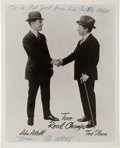 Boxing Collectibles:Autographs, Circa 1970 Abe Attell Signed Photograph, Helped Fix the 1919 Black Sox World Series....
