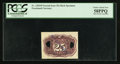 Fractional Currency:Second Issue, Milton #2E25R.2 25¢ Second Issue Experimental Back PCGS Choice About New 58PPQ.. ...