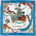 """Luxury Accessories:Accessories, Hermes 90cm """"Le Timbalier,"""" by Francoise Heron Silk Scarf. ..."""