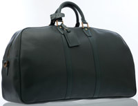 Louis Vuitton Green Taiga Leather Kendall 55 Bag with Brass Hardware