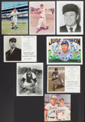 Baseball Collectibles:Photos, Baseball Greats Signed Photographs Lot of 8....