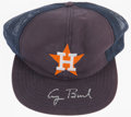 Baseball Collectibles:Hats, George H.W. Bush Signed Houston Astros Cap....