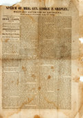 Books:Americana & American History, [George F. Shepley]. Speech of Brig. Gen. George F.Shepley... Portland: [N.p.], [1863]. 4 pages. Folded, asissued....