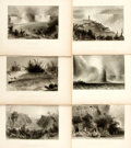 Books:Prints & Leaves, Nathaniel Parker Willis. Six Engraved Plates from AmericanScenery; or, Land, Lake, and River. From drawings by W.H....