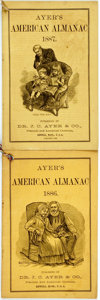 Books:Americana & American History, [Almanac]. Group of Two Copies of Ayer's American Almanac.Lowell: Dr. J.C. Ayer & Co., 1886-1887. Twelvemos. Publis...(Total: 2 Items)