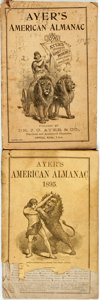 Books:Americana & American History, [Almanac]. Group of Two Copies of Ayer's American Almanac.Lowell: Dr. J.C. Ayer & Co., 1895-1896. Twelvemos. Publis...(Total: 2 Items)