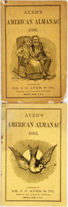 Books:Americana & American History, [Almanac]. Group of Two Copies of Ayer's American Almanac.Lowell: Dr. J.C. Ayer & Co., 1885-1886. Twelvemos. Publis...(Total: 2 Items)