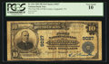 National Bank Notes:Tennessee, Copperhill, TN - $10 1902 Plain Back Fr. 626 The First NB of PolkCounty at Copperhill Ch. # 9027. ...