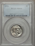 Buffalo Nickels: , 1926 5C MS64 PCGS. PCGS Population (964/1402). NGC Census:(492/696). Mintage: 44,693,000. Numismedia Wsl. Price for proble...