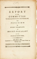 Books:Americana & American History, [Americana]. REPORT OF THE COMMITTEE TO WHOM WAS REFERRED ON THE21ST OF FEBRUARY LAST, THE PETITION OF SUNDRY INHABITANTS OF ...