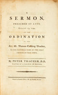 Books:Religion & Theology, Thacher, Thomas: A SERMON. PREACHED AT LYNN, AUGUST 13, 1794: BEING THE DAY APPOINTED FOR THE ANNUAL THANKSGIVING. PUBLISHED B...