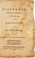 Books:Religion & Theology, Thacher, Thomas: A DISCOURSE, DELIVERED AT PETERBOROUGH OCTOBER 23, 1799; AT THE ORDINATION OF THE REV. ELIJAH DUNBAR, TO THE ...