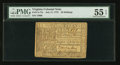 Colonial Notes:Virginia, Virginia July 17, 1775 20s PMG About Uncirculated 55 EPQ.. ...