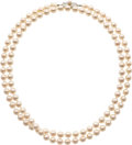 Jewelry, CULTURED PEARL NECKLACE, MIKIMOTO. ...