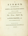 Books:Religion & Theology, Thacher, Peter: A SERMON, PREACHED TO THE SOCIETY IN BRATTLE- STREET, BOSTON, APRIL 17, 1796; AND OCCASIONED BY THE DEATH OF T...