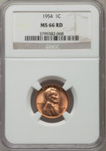 Lincoln Cents: , 1954 1C MS66 Red NGC. NGC Census: (602/9). PCGS Population (356/5).Mintage: 71,873,352. Numismedia Wsl. Price for problem ...