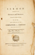 Books:Religion & Theology, Thacher, Peter: A SERMON PREACHED TO THE CHURCH AND SOCIETY IN BRATTLE-STREET, BOSTON, DEC.29, 1799, AND OCCASIONED BY THE COM...