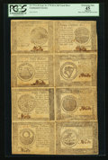 Colonial Notes:Continental Congress Issues, Continental Currency September 26, 1778 Half Sheet of Eight PCGS Apparent Extremely Fine 45.. ...