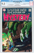 Silver Age (1956-1969):Horror, House of Mystery #180 Don/Maggie Thompson Collection pedigree (DC,1969) CGC NM- 9.2 Off-white to white pages....